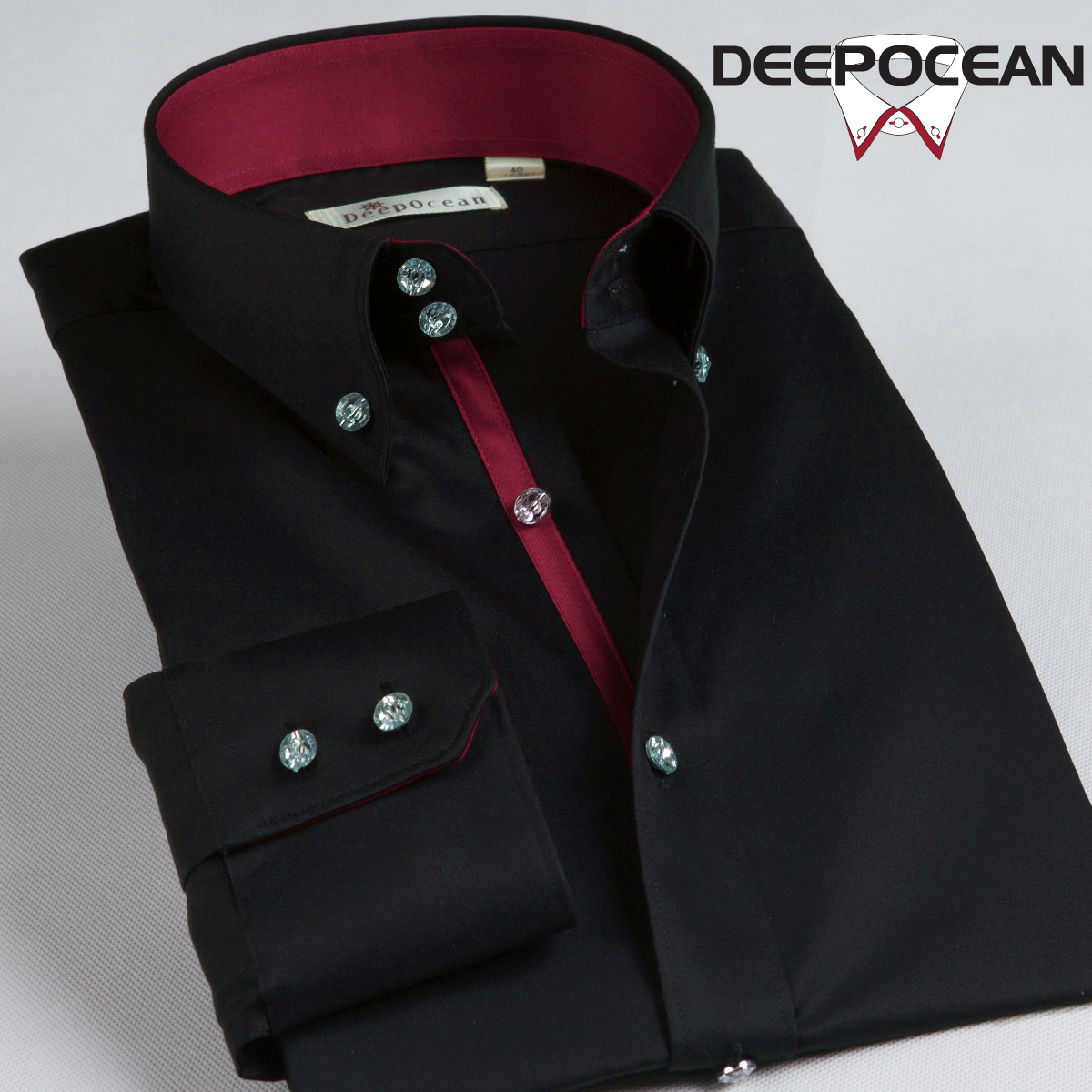 DeepOcean深海男士长袖衬衫2013新款春秋男装衬衣韩版修身丝光棉 价格:168.00