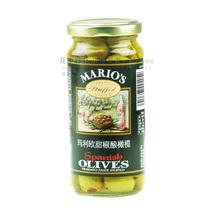 Mario玛利欧甜椒酿橄榄 选用曼沙尼娜橄榄制制造 240G原装 罐头 价格:22.50