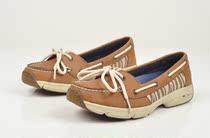 欧美国west外贸精品真皮浅口女单鞋 出口系带复古正品舒适帆船鞋 价格:128.00