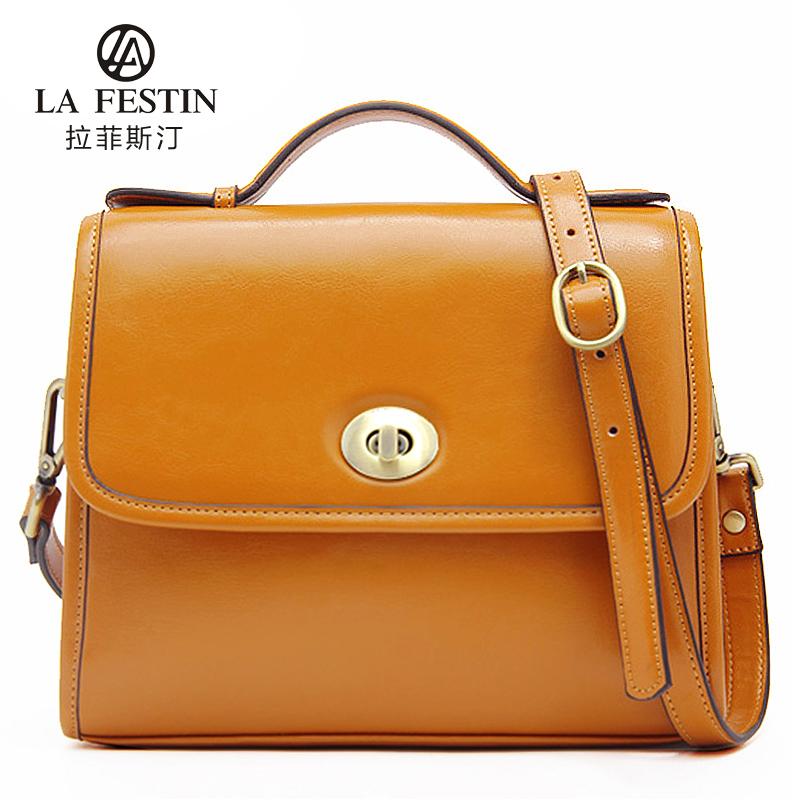 拉菲斯汀女士包包2013新款潮韩版单肩斜跨包手提包女包大包复古包 价格:198.00