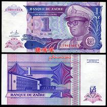 【非洲】全新UNC 扎伊尔1元纸币 1993年版 外币 外国钱币Q209 价格:5.80