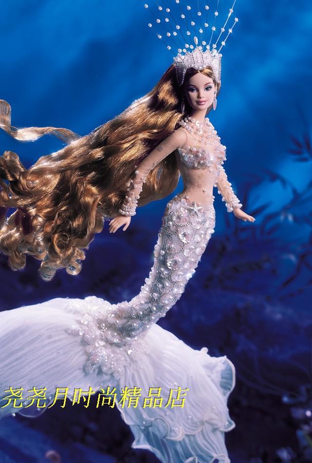 芭比珍藏版 金标签enchanted mermaid barbie魔法美人鱼公主