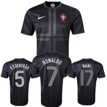 Portugal 2013 away shirt authentic RONALDO葡萄牙客场球员版衣 价格:60.00
