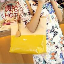 优哈2013新款包包韩版时尚潮女士包包撞色果冻包休闲单肩女包包邮 价格:46.36