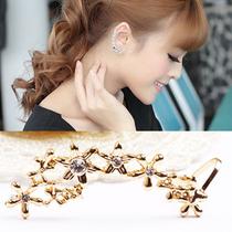 韩版耳骨夹花簇U型耳夹无耳洞耳夹女螺丝耳夹耳扣软垫耳夹U26 价格:7.80