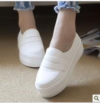 松糕鞋 女鞋潮2013秋新款韩版 厚底平跟内增高帆布鞋女休闲鞋单鞋 价格:48.00