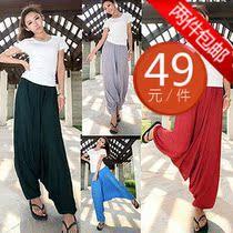 2013夏新款尼泊尔大裆裤吊裆裤飞腿裤免裆裤萝卜裤休闲裤2条包邮 价格:49.00
