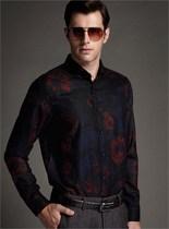 2013梦芭莎蒙蒂埃莫秋季新款 俊雅时尚印花磨毛保暖衬衫062013335 价格:399.00