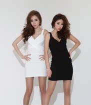 2013新款秋冬装韩国甜美无袖针织打底修身性感紧身连衣裙包臀裙 价格:88.00