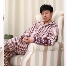 【凌桑】男士加厚法兰绒冬季睡衣 精品珊瑚绒家居服套装 特价包邮 价格:89.00