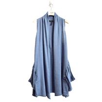 BCBG MAXAZRIA原单正品 无袖长款针织披肩开衫 欧美休闲女款外套 价格:168.00