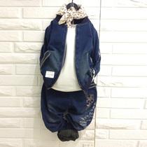 韩国儿童小男孩韩版套装衣服童装中童牛仔骷髅男童秋装2013新款潮 价格:84.15