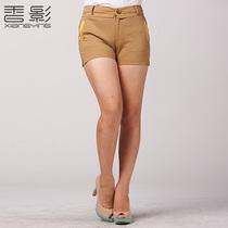 香影2013秋装新款女装韩版修身时尚撞色显瘦短裤 女 K1312071 价格:139.00