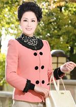 中年女装秋装外套女中老年服装圆领小西装妈妈装春秋长袖短款外套 价格:85.00