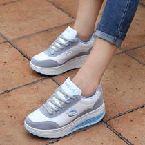 韩版增高运动鞋女 松糕厚底休闲鞋潮 增高女鞋 健身减肥跑步鞋 价格:96.00