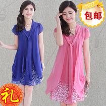 2013夏装新款专柜正品女装 香影刘易菲宽松胖mm雪纺连衣裙 价格:176.00