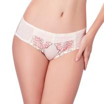 奢华高贵花朵刺绣女性内衣性感内裤收腹中腰底裤 价格:38.00