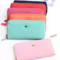 韩国进口shinzi katoh超美糖果色女式长款钱包卡包 附手带可提挎 价格:208.00