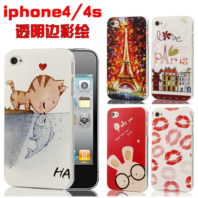 新款 苹果4s手机壳 正品 透明 彩绘 iphone4s手机壳 保护套外壳潮 价格:19.60