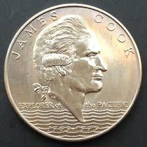 【克朗币】西萨摩亚1元硬币 库克航海200周年纪念币 大直径38MM 价格:48.00