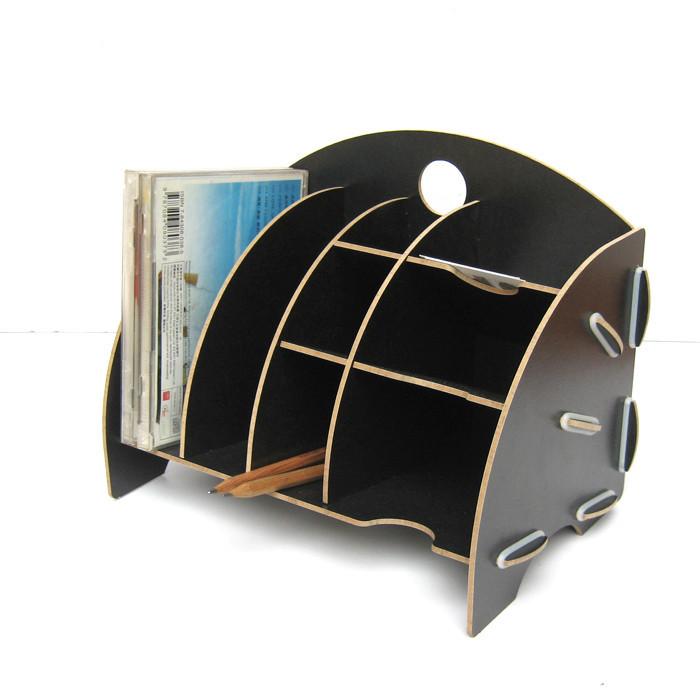 丽珑多功能桌面收纳盒 DIY木质创意办公收纳 名片架便签盒b1006 价格:25.00