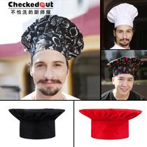 厨师帽 有褶高帽 厨师帽酒店餐厅厨房工作帽 厨师工作帽 价格:15.00
