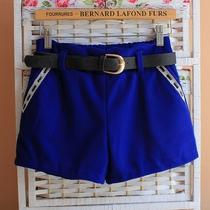 包邮2013秋冬季女装新款直筒毛呢短裤 韩版时尚呢子靴裤 热裤 价格:32.00