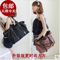 包邮帆布包包2013新款韩版女包皮带装饰时尚单肩斜挎包欧美大包包 价格:158.00