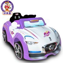 好来喜SX1318儿童电动车童车四轮遥控双驱可坐小汽车宝宝车玩具车 价格:558.00