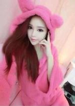 日系甜美公主可爱粉粉胸耳朵浴袍 舒适家居服 价格:95.00