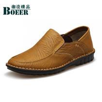 意大利袋鼠正品男鞋时尚休闲皮鞋磨砂皮真皮休闲鞋男皮鞋特价促销 价格:118.00