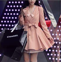 2013春秋新款milkcocoa韩版短风衣外套 甜美公主双排扣裙摆风衣女 价格:218.00