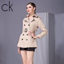 2013秋季新款女装中长款风衣 CK正品 CalvinKlein欧美时尚女外套 价格:440.00
