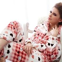 十大品牌 多拉美秋冬季家居服女士冬天加厚珊瑚绒睡衣套装CD42423 价格:98.00