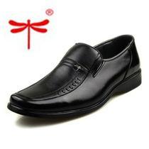 特价红蜻蜓男士皮鞋低帮鞋套脚正装皮鞋商务真皮皮鞋胶粘鞋男鞋 价格:69.00