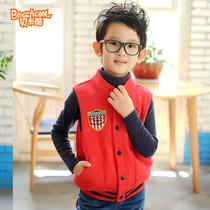 贝卡酷2013秋装新款 儿童马甲男童背心 中大童开衫外套韩版童装 价格:69.00