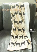 清库[白色莫奈]特价*浴巾 纯棉 割绒印花沙滩巾浴巾毛巾驯鹿 价格:37.99