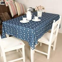 时尚简约餐桌桌布/台布/茶几布 床头柜盖巾/沙发巾 餐桌布 蓝五星 价格:13.30
