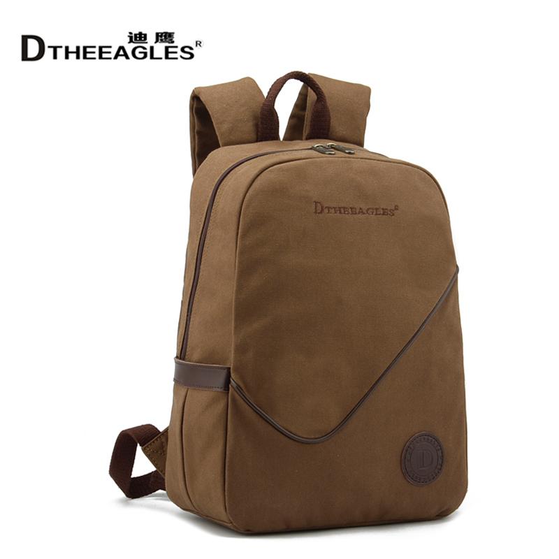 迪鹰 帆布包男双肩包 运动包 书包电脑包 旅行背包 时尚男女包包 价格:85.00