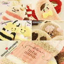 同代购 日本原单tutuanna地板袜 卡通软绵绵地板袜睡眠袜毛巾袜子 价格:19.80