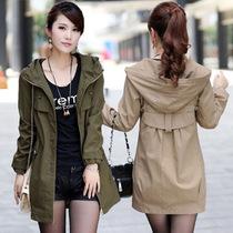2013新款秋装女式风衣女外套春款大衣中长款韩版修身风衣简约外套 价格:138.00