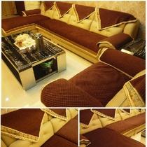 沙发垫布艺坐垫欧式真皮沙发套沙发罩全盖加厚防滑实木可定做 价格:2.00