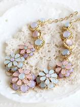 大鱼外贸饰品 清新粉嫩色系 镶嵌宝石 花朵短项链 情人节礼物D438 价格:24.90
