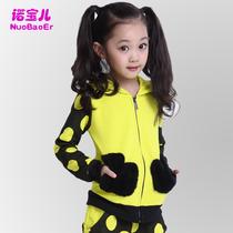 2013女童秋装新款童装4-6-8-10-12岁儿童运动套装春秋季衣服装潮 价格:98.00