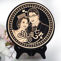 千禧灵瓶 人像炭雕摆件 创意礼品新婚礼物 送父母长辈家居装饰品 价格:168.00