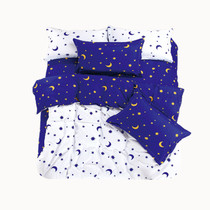2013新品上市 芦荟棉三件套四件套星星月亮之上双拼三件套四件套 价格:79.00