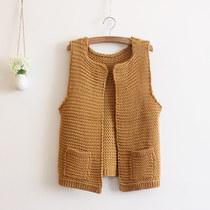 2013秋装新款女装  韩版时尚加厚女式毛衣马甲背心马夹针织衫外套 价格:69.00
