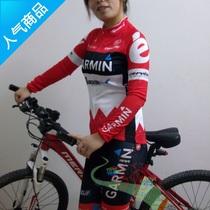 热销女款GARMIN环法车队自行车户外骑行服春夏秋长袖长裤薄款套装 价格:168.00