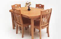 折叠实木 餐桌椅组合可伸缩橡木圆桌橡木多功能饭桌桌子餐桌防水 价格:200.00
