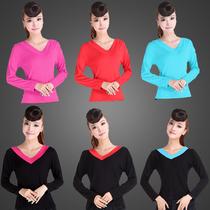 哈梵新款广场舞服装女长袖上衣拉丁舞跳舞服装中老年舞蹈服练功服 价格:15.95